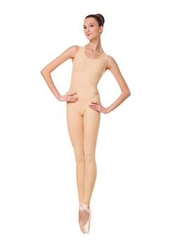 Seamless unitard made of breathable polyamide micro